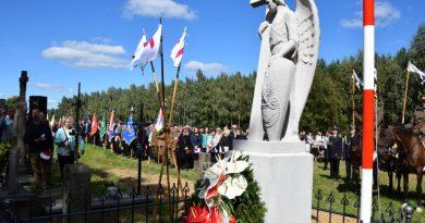 Uroczystość odsłonięcia pomnika Michała Demideckiego–Demidowicza